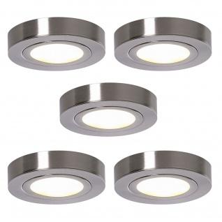 LED 5-er Set Küchen Aufbau-/Unterbauleuchte ALEXA 5 x 3 W Strahler Spot *552108