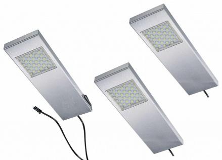 LED Edelstahl Küchen Unterbauleuchte 3x3 W Set mit 3 Unterbaulampen Tadeo*542611