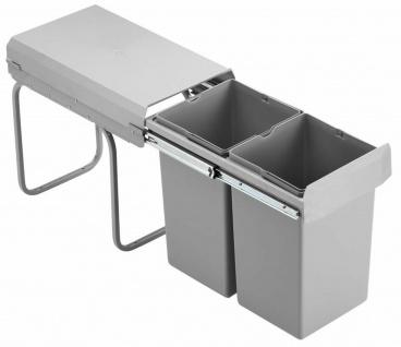Wesco Mülleimer Küche Einbau 30 cm Unterschrank 2x15 L Küchenmülleimer *515264