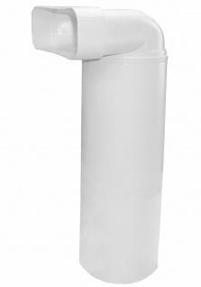 Umlenkstück Flachkanal Abluft 230x80 mm auf Ø 150 mm 100 cm Lüftungsrohr *529094