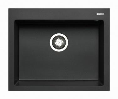 Einbauspüle 61x50 cm Küchenspüle Istros 1 Spülbecken mit Hahnloch Spüle modern