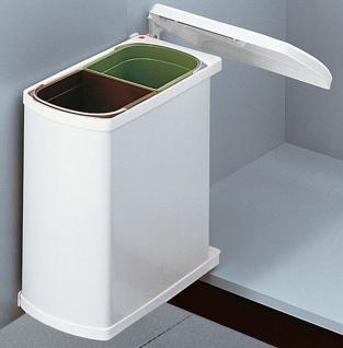 Hailo Duo 45 Küchen Einbau Abfall Mülleimer 2 x 8 Liter 2-fach Trennung *516179
