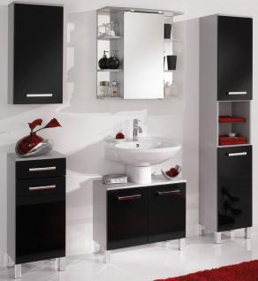 5 tlg Badset Badezimmer Möbel komplett Badezimmer LED Spiegelschrank *BS-Mendo