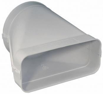Übergangsstück Flachkanal 222x89 mm auf Ø 150 mm Rundrohr Abluft Küche *562534