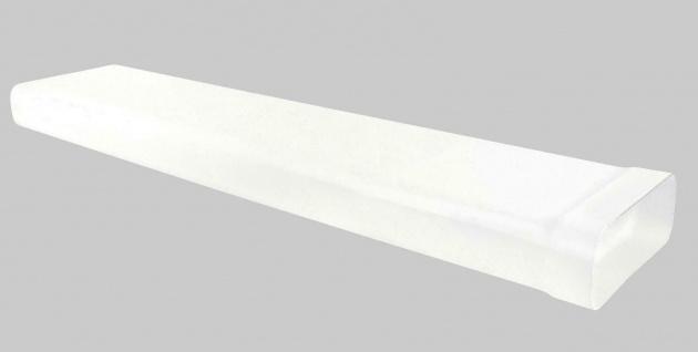 Flachkanal Abluft mit Muffe 230x80 mm Abzugshaube 100 cm Lüftungsrohr *529223