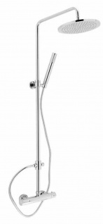 Duschset Thermostat Duschsystem Duschstange höhenverstellbar Kopfbrause *0804