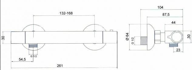 Thermostat Duscharmatur Scherheitssperre 38° C Badarmatur Einhandmischer *0495 - Vorschau 4
