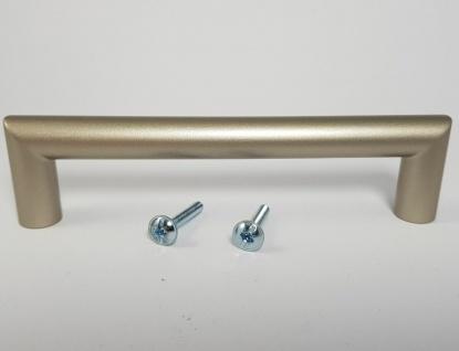 Möbelgriffe BA 128 mm Bügelgriff Küchengriffe Vernickelt matt Schrankgriff *9004