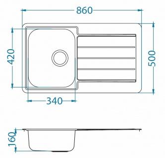 Alveus Küchenspüle Einbauspüle Spülbecken LINE 20 Kupfer Abwaschbecken *1068985 - Vorschau 2