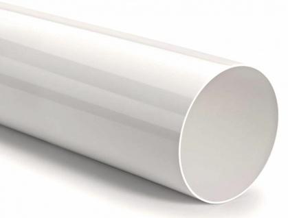 Lüftungsrohr Ø 150 mm Abluftrohr 100 cm ohne Muffe Rundrohr Kunststoff *527953