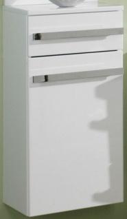 Badschrank 35, 2x74, 6 cm Unterschrank hängend weiß Badmöbel montiert *US-D-Wei