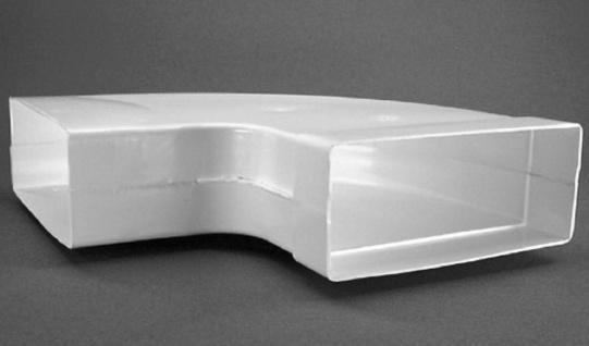 Flachkanal Abluft 220x90 mm Bogen 90° waagerecht Lüftungsbogen Abzugshaube 50305