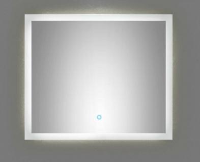 LED Badspiegel 70x60 cm Touch Bedienung 22 Watt warmweiss 120 LED/Meter *7060