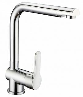 Küchenarmatur Wasserhahn Einhandmischer hoher Auslauf Spültischarmatur *0514