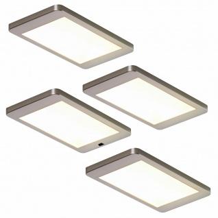 LED 4er Unterbauleuchte Küche 4x5, 5 W Leuchtenset Lichtfarbe regelbar *552665