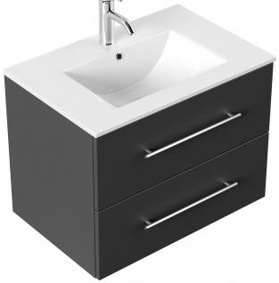 Waschtisch mit Unterschrank 75 cm Badmöbel Waschplatz Homeline 2 Schubladen