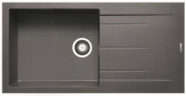 Einbauspüle 100x50 cm moderne Küchenspüle Alazia großes Spülbecken *070037812