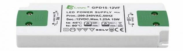 Konverter 75 W Trafo für 5 Unterbauleuchten LED Panel PineTransformator *30661