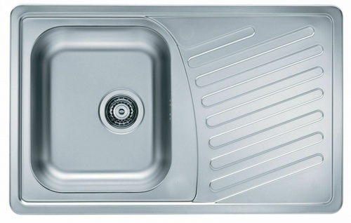 Küchenspüle Einbauspüle Edelstahl 81 cm Ablaufgarnitur Überlauf Spüle *1009380