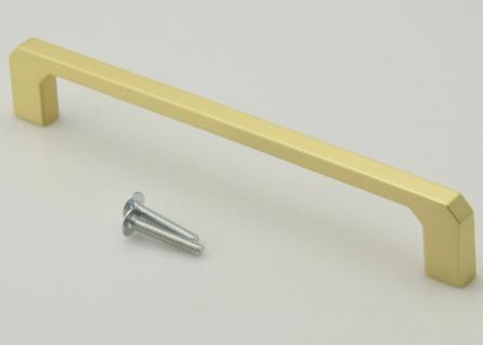 Küchengriff gold Schrankgriff BA 160 mm modern Möbelgriff Messing matt *735-BRM
