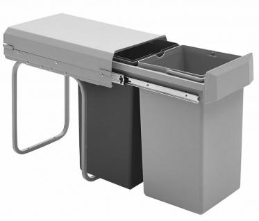 Wesco Küchen Mülleimer Einbau ab 30 cm Küchenschrank 2-fach Abfalleimer *40335