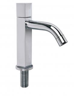 Standventil Kaltwasser Küchen Armatur LAGO Wasserhahn Messing Verchromt *0611