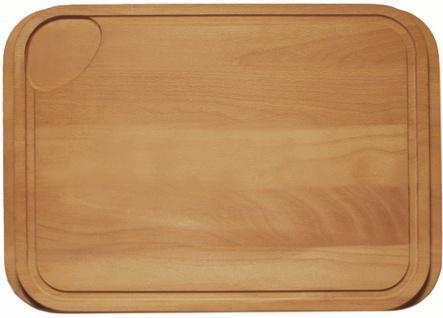 Schneidebrett Holzbrett Buche massiv 42 cm paßt zu Alveus Spüle Praktik *1016019