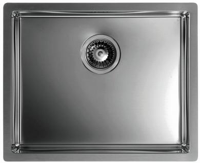 Moderne Küchenspüle anthrazit 55 cm Flachrand Einbauspüle Spülbecken *1103383