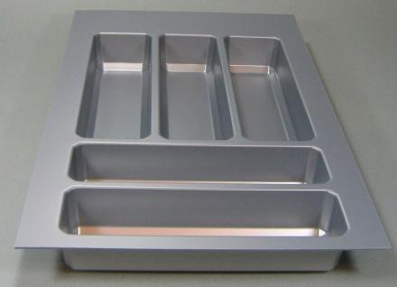 Schubladen Besteckeinsatz Teck Küchen Besteckkasten 40 cm zuschneidbar *44571