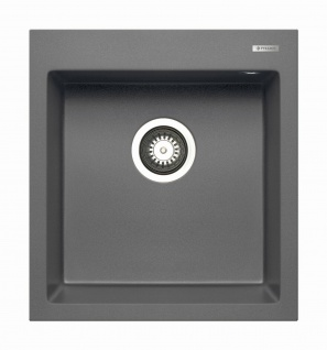 Küchenspüle 46x50 cm Spülbecken eckig moderne Einbauspüle Istros 1 Becken Spüle