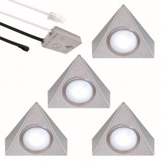 LED 4-er Set Edelstahl Küchen Unterbauleuchte 2, 7 W Lichtfarbe regelbar *552481