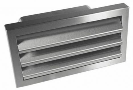 Edelstahl Außengitter Abluft 150x70 mm Dunstabzug Küche Rückstauklappe *527410
