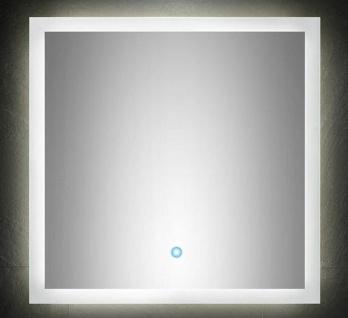 Badet 3 Teile Waschplatz 60 cm LED Spiegel Hochschrank Badmöbel Set *HoLi-Set3 - Vorschau 3