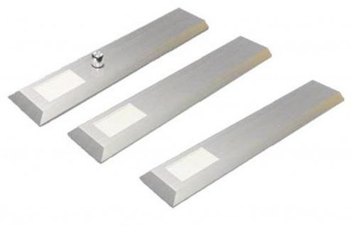 LED Edelstahl 3-er Set Unterbau Küchenleuchten MILANO 3 x 6 W dimmbar *30451