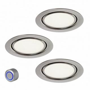Rolux LED Einbaustrahler 3x3 Watt dimmbar Edelstahl Optik warmweiß Bobby *554096