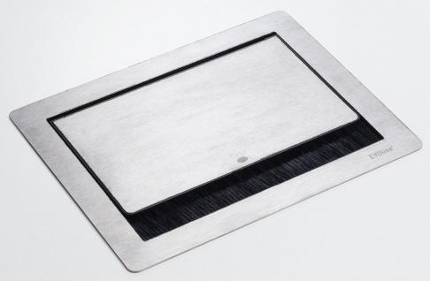Edelstahl Steckdose Küche Büro Schreibtisch Einbau EVOline Flip Top Push *558292