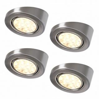 LED 4er Unterbauleuchte Küche 4x3 W Aufbaustrahler Aufbaulampen warmweiß *552313