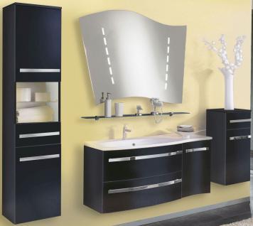 5 tlg Badmöbel Set Badezimmer komplett Badset LED Spiegel Waschplatz *BS-Harm-2