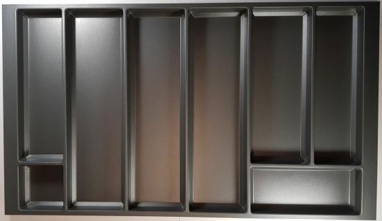 Agoform Besteckeinsatz 826x473 mm grau Forno Korpusbreite 900 mm Legrabox-Zarge