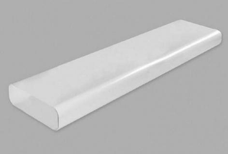 Flachkanal Abluft 230x80 mm Abzugshaube 100 cm Lüftungsrohr ohne Muffe *529216