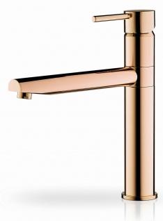 Moderne Küchenarmatur roségold Einhandmischer Armatur hoher Auslauf *090921603