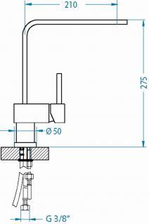 Alveus Küchenarmatur LAGUNA Wasserhahn Spüle Einhebelmischer Anthrazit *1088537 - Vorschau 2