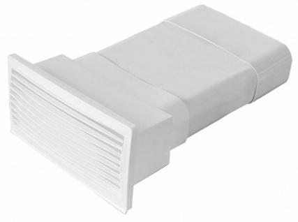 Mauerkasten Abluft 230x80 mm ausziehbar Rückstauklappe Abzugshaube Küche *529285