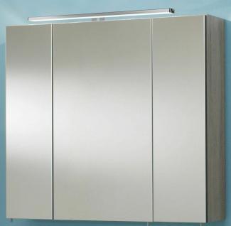 Badmöbel Set 3 Teile Waschplatz 80 cm LED Spiegelschrank Badezimmer *Ram-80-Holz - Vorschau 2
