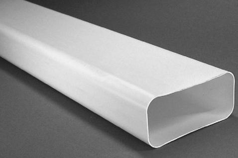Flachkanal 150x70 mm Abzugshaube Dunstabzug Küche Abluft 100 cm ohne Muffe 50100