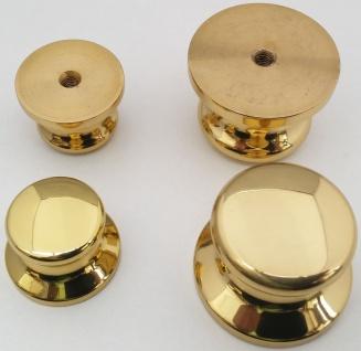 Kommodenknopf Möbelknopf Ø 21, 30 mm Messing massiv poliert Schrankknopf *4005
