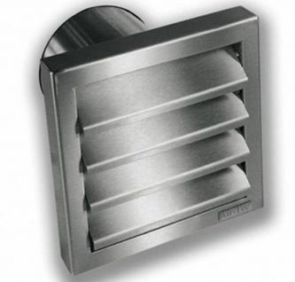 Außengitter Edelstahl Rückstauklappe Ø 100 mm Abluft Abzugshaube Küche *526482