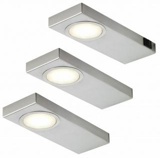 LED Küchen Unterbauleuchte 3x3, 5 W Edelstahl 3-er Set Unterbaulampen *549290