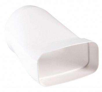 Flachkanal 150x70 mm Übergangsstück zu Ø 125 mm Abluft Dunstabzug Küche *50103