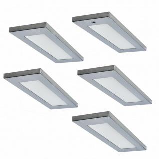 Flächen-LED Unterbauleuchte Küche 5 x 4 W Unterbaulampe Mona mit Dimmer *571611